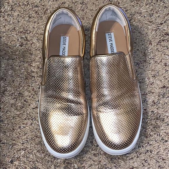 """82d2dcf1f88 Rose Gold platform slip on sneakers """"Genette"""". M 5c5b6ebec617773e38c61427"""